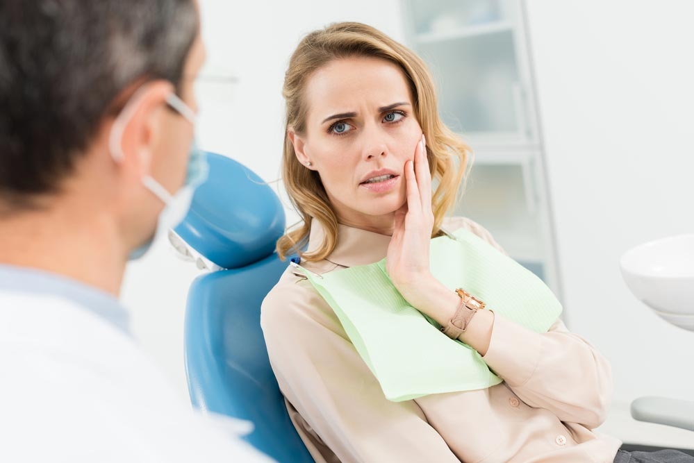 Зуб реагирует на раздражители