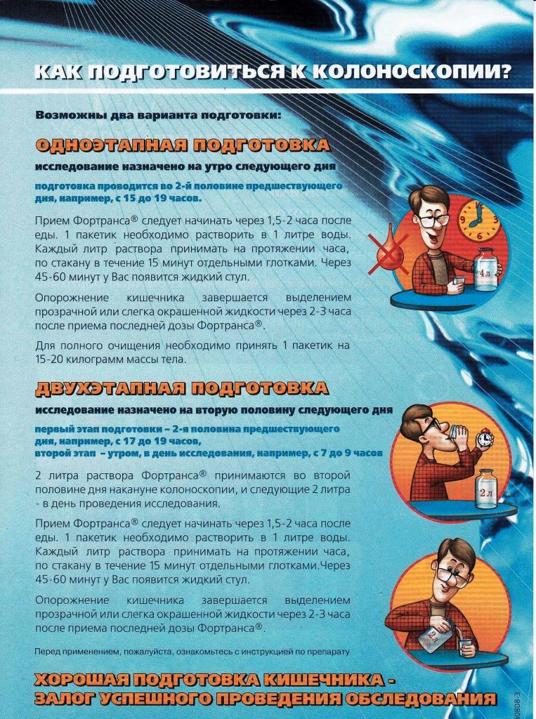 Препарат Фортранс - инструкция